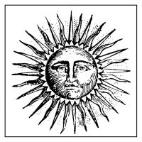 Stamperia High Definition Stamp 10cmx10cm - Alchemy Sun