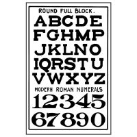 Stamperia High Definition Stamp 7cmx11cm -  Alphabet & numbers