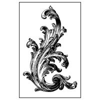 Stamperia High Definition Stamp 7cmx11cm -  Fieze (Svirgolo vittoriano)