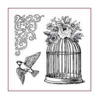 Stamperia High Definition Stamp 10cmx10cm Bird Cage