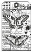Stamperia HD Natural Rubber Stamp cm. 7x11 Butterfly
