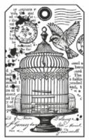 Stamperia HD Natural Rubber Stamp cm. 7x11 Little cage