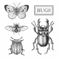 Stamperia HD Natural Rubber Stamp cm. 10x10 Bugs