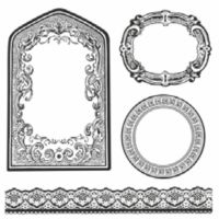 Stamperia HD Natural Rubber Stamp cm. 10x10 Frames and borders