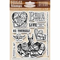 Stamperia HD Natural Rubber Stamp cm.14x18 Fly high