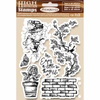 Stamperia HD Natural Rubber Stamp cm.14x18 Enjoy