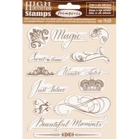 Stamperia HD Natural Rubber Stamp  cm.14x18 Beautiful moments