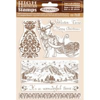 Stamperia HD Natural Rubber Stamp  cm.14x18 Winter Time