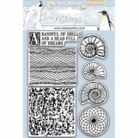 Stamperia HD Natural Rubber Stamp  cm.14x18 Shells