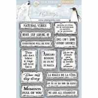 Stamperia HD Natural Rubber Stamp  cm.14x18 Quotes