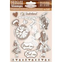 Stamperia HD Natural Rubber Stamp  cm.14x18 Alice