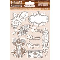 Stamperia HD Natural Rubber Stamp  cm.14x18 Princess