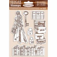 Stamperia HD Natural Rubber Stamp cm 14x18 Lady Vagabond
