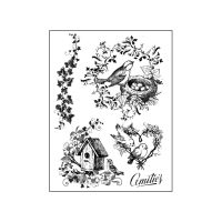 Stamperia High Definition Stamp cm.14x18 Birds