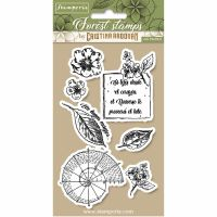 Stamperia HD Natural Rubber Stamp cm.10x16,5 Botanical