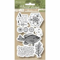 Stamperia HD Natural Rubber Stamp cm.10x16,5 Fish