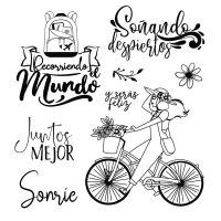 Stamperia Acrylic stamp cm. 9,5x10,5 Bicycle