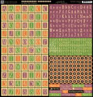 Graphic 45 An Eerie Tale Alphabet Stickers