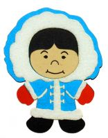 Paper Wizard Small World People - Eskimo Girl Die Cut