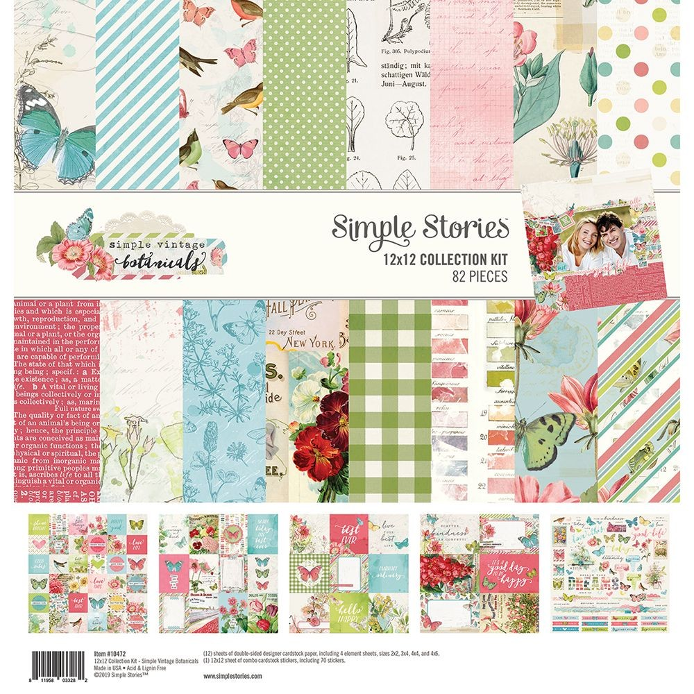 Simple Stories Simple Vintage Botanicals 12x12 Collection Kit