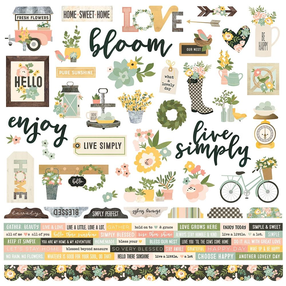 Simple Stories Spring Farmhouse Combo Sticker