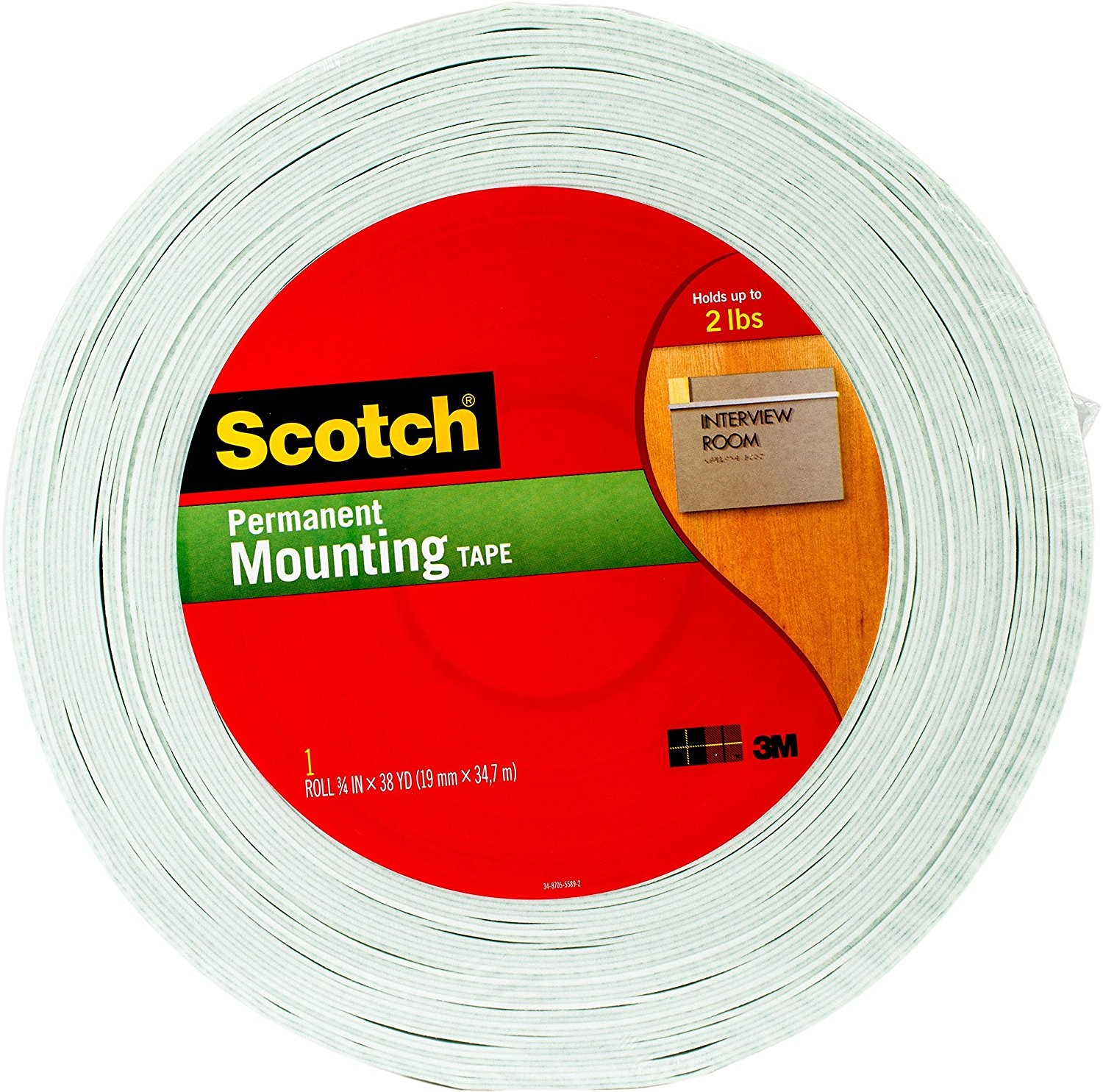 "3M Scotch 3/4"" Double-Sided Foam Mounting Tape"