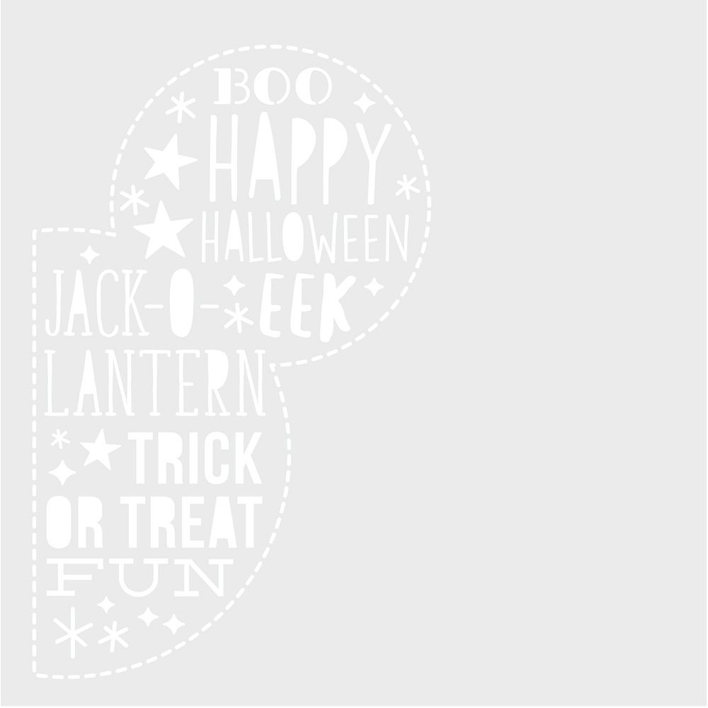 Simple Stories Say Cheese Halloween 6x6 Stencil