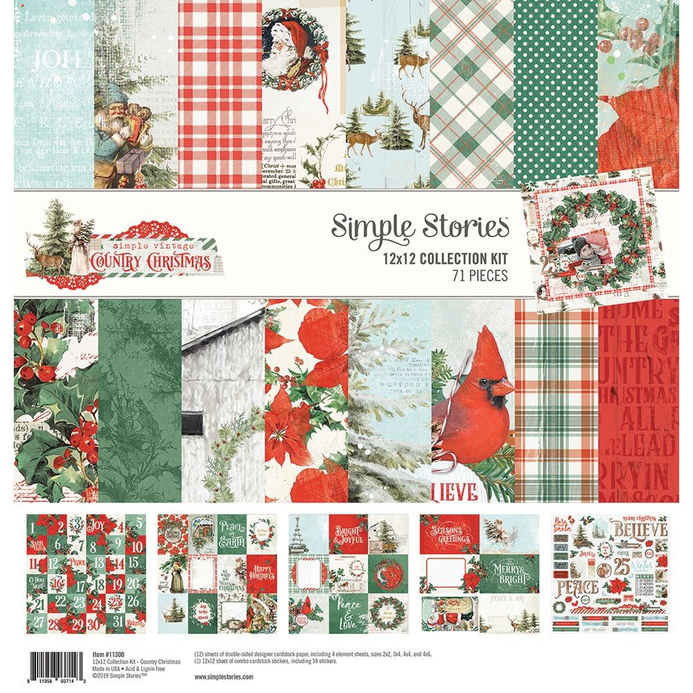 Simple Stories Simple Vintage Country Christmas 12x12 Collection Kit