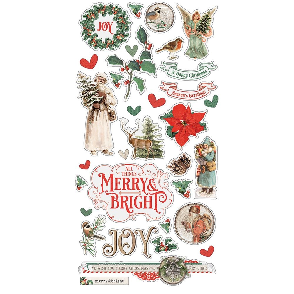 Simple Stories Simple Vintage Country Christmas 6x12 Chipboard