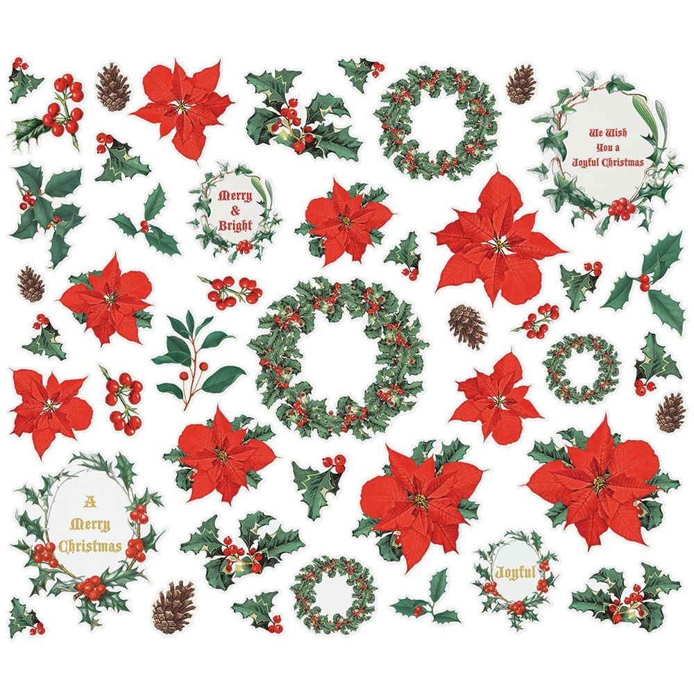 Simple Stories Simple Vintage Country Christmas Floral Bits & Pieces