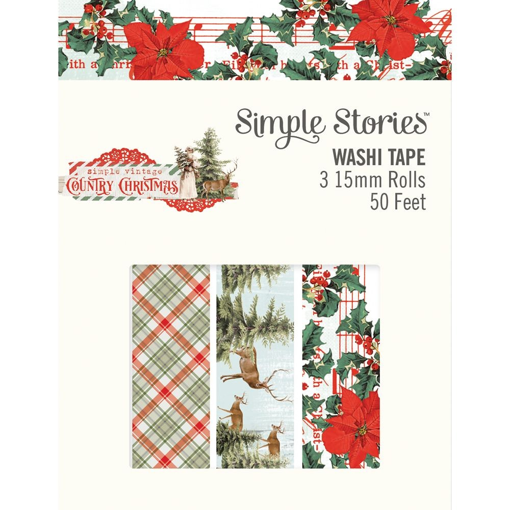 Simple Stories Simple Vintage Country Christmas Washi Tape