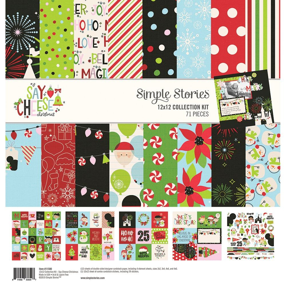 Simple Stories Say Cheese Christmas 12x12 Collection Kit