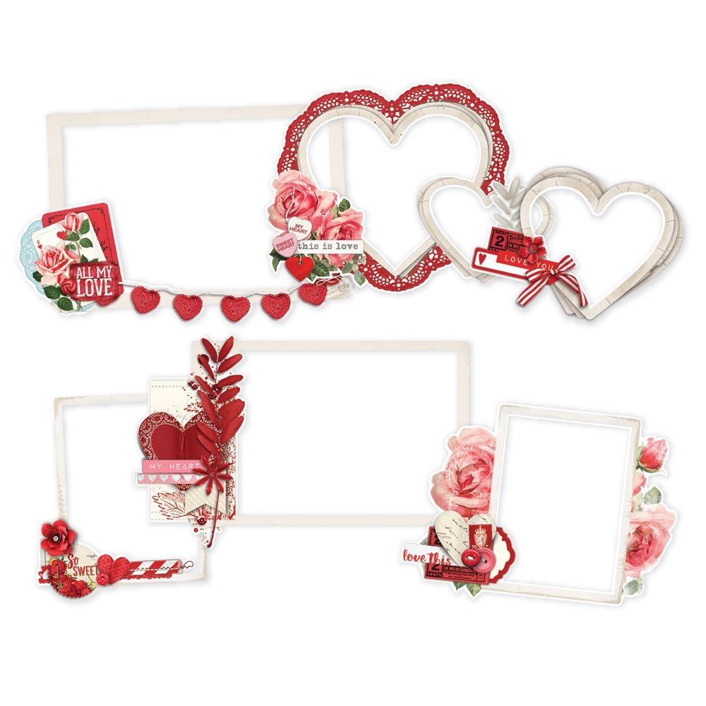 Simple Stories Simple Vintage My Valentine Layered Frames