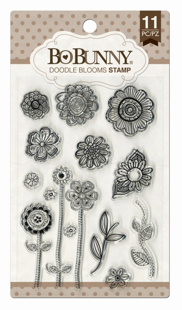 Bo Bunny Doodle Blooms Stamp