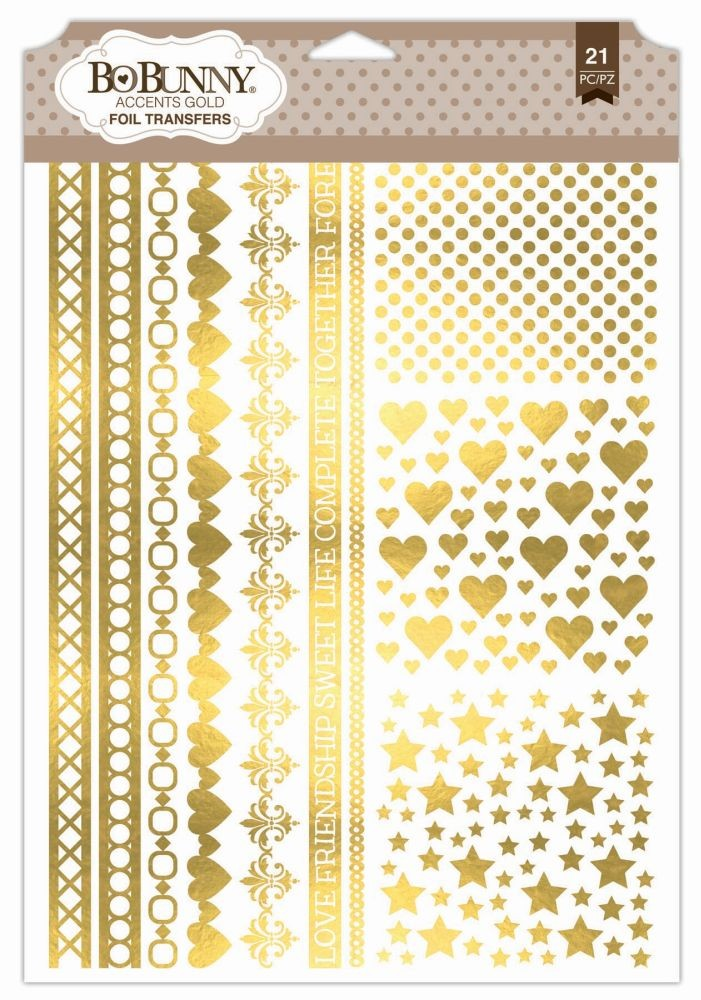 Bo Bunny Accents Gold Foil Transfer