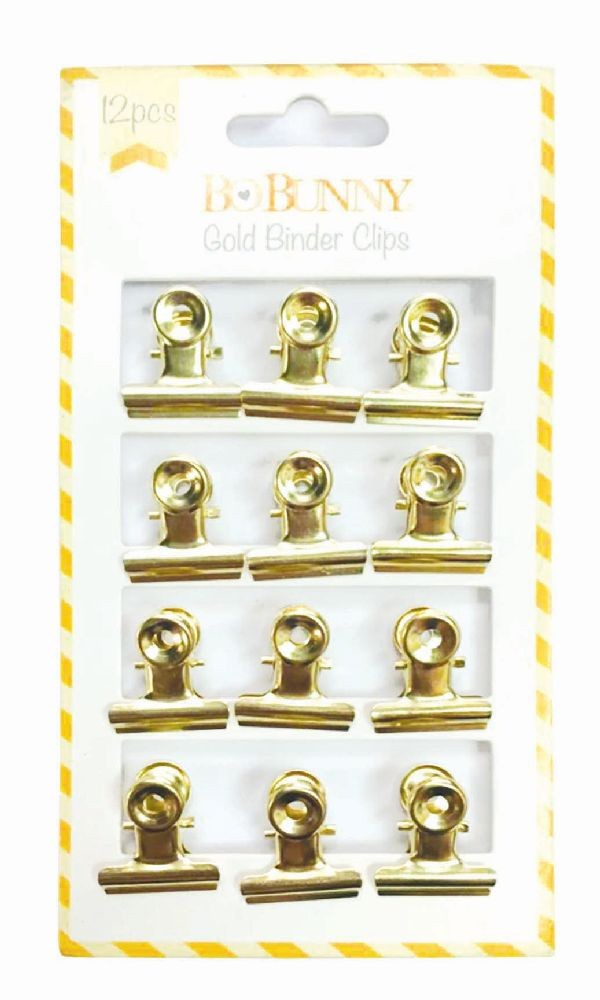 Bo Bunny Gold Binder Clips