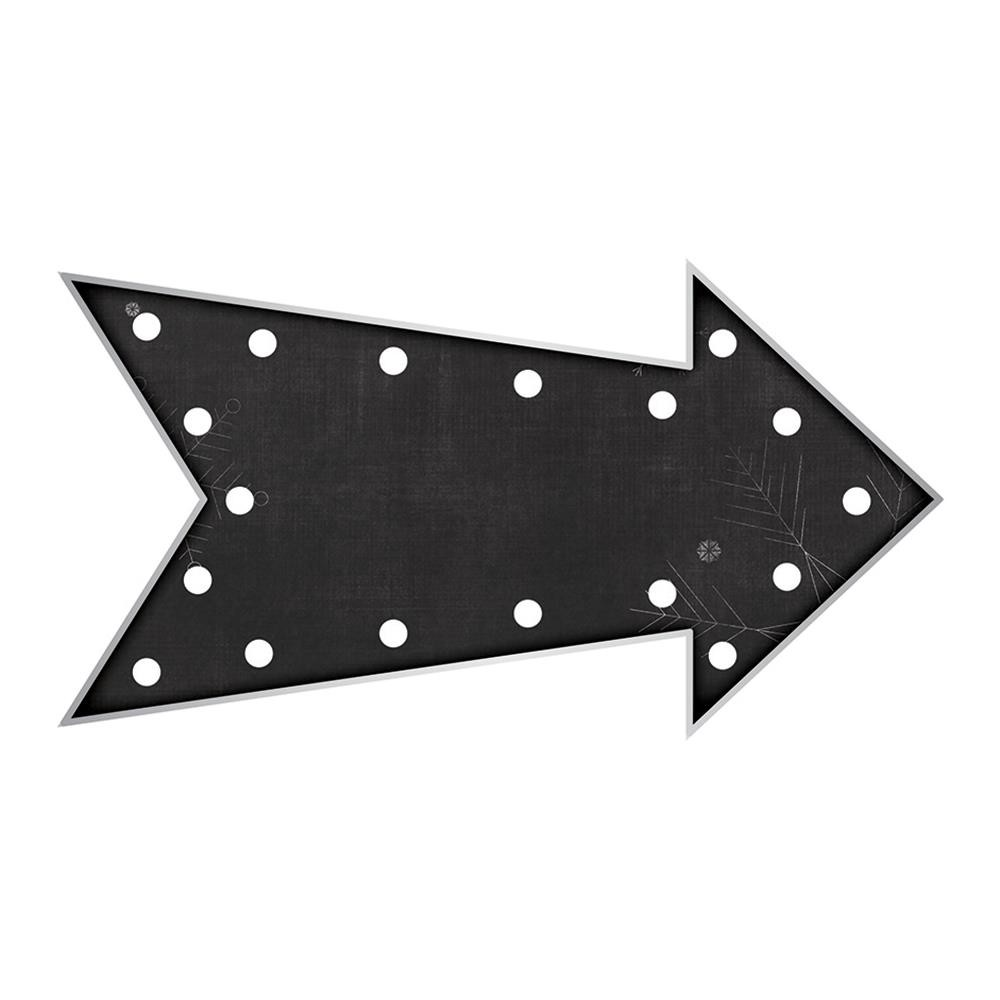 "American Crafts Heidi Swapp Marquee Love Plastic Shape Kit - Chalkboard Print Arrow 9.85""X5.25"""