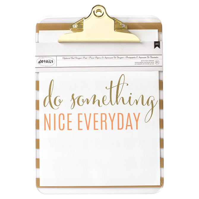 American Crafts Clipboard - Do Something Nice