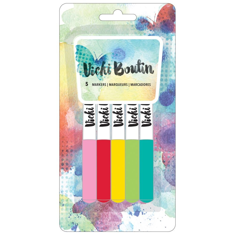 American Crafts Vicki Boutin Mixed Media - Color Marker Set - (5 Piece)