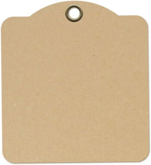 Graphic 45 Square Tags - Kraft