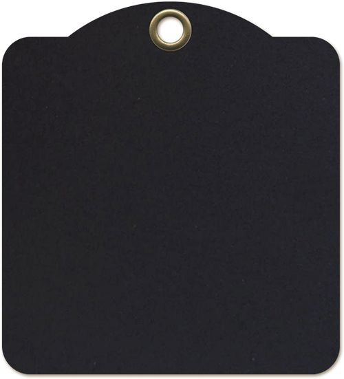 Graphic 45 Square Tags - Black