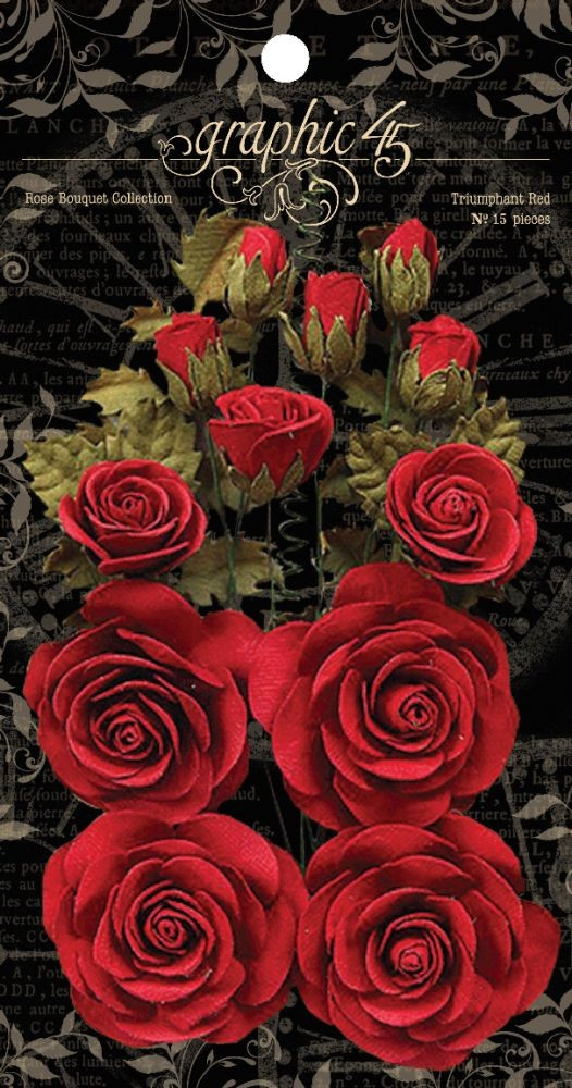 Graphic 45 Rose Bouquet Collection-Triumphant Red