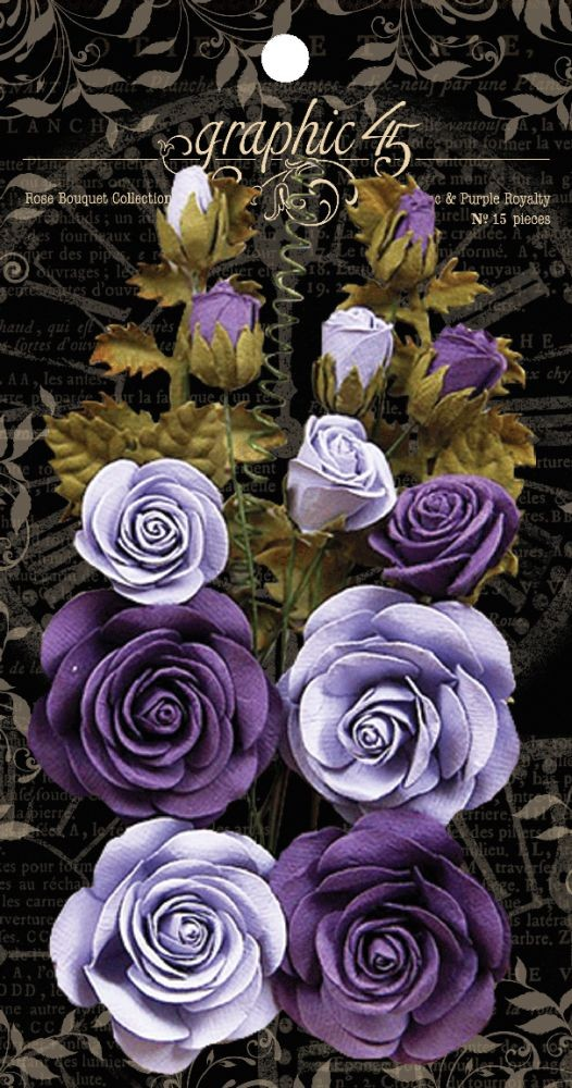 Graphic 45 Rose Bouquet Collection-French Lilac & Purple Royalty