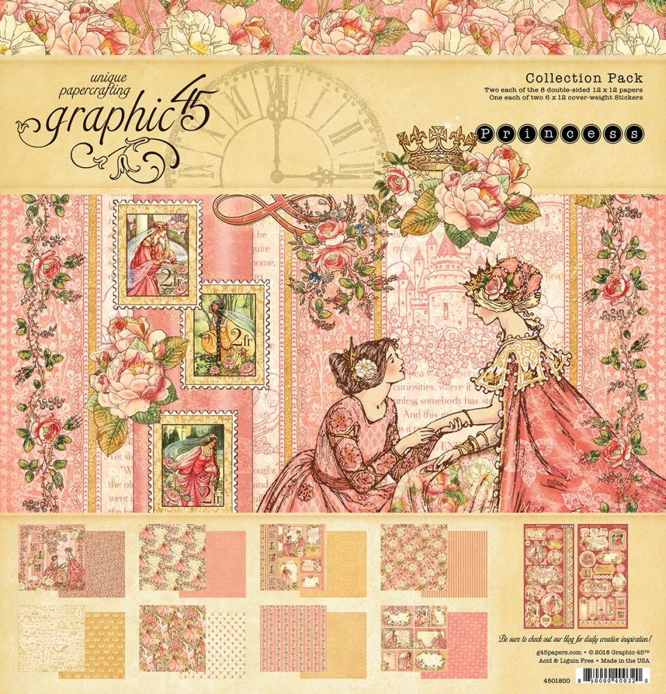 Graphic 45 Princess 12x12 Collection Pack