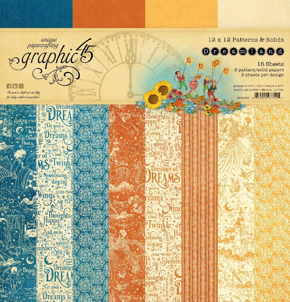 Graphic 45 Dreamland 12x12 Patterns & Solids Pad