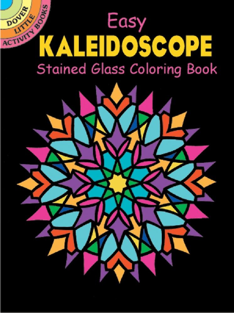 Dover Publications Kaleidoscope Stained Glass Clr Bk