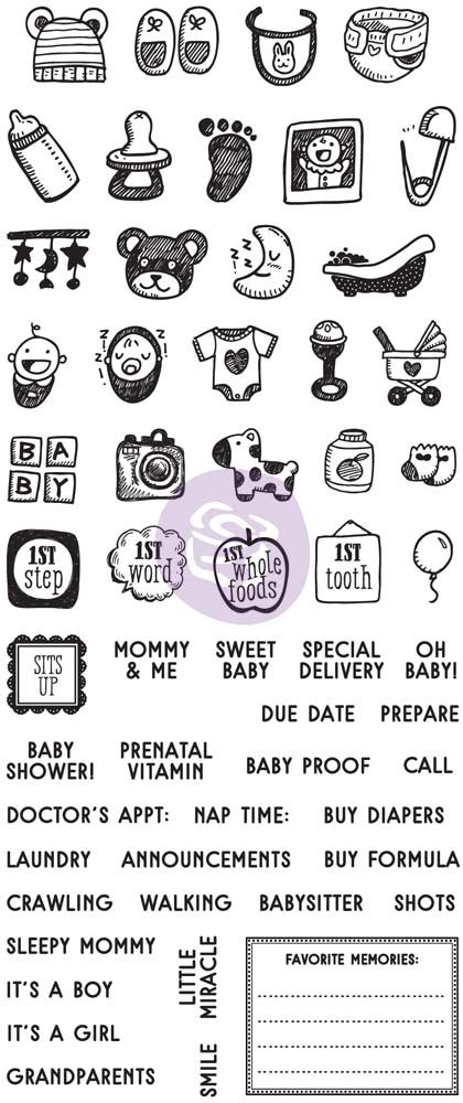 Prima Marketing My Prima Planner Clear Stamps - Baby