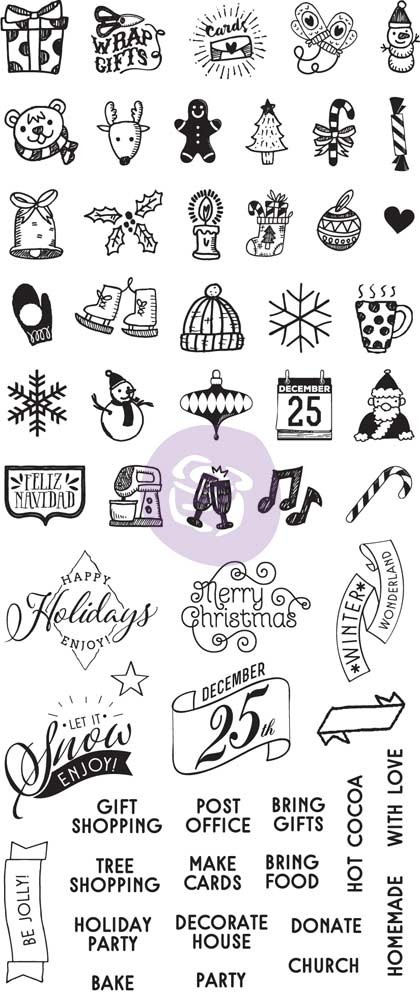 Prima Marketing My Prima Planner Clear Stamps - Christmas
