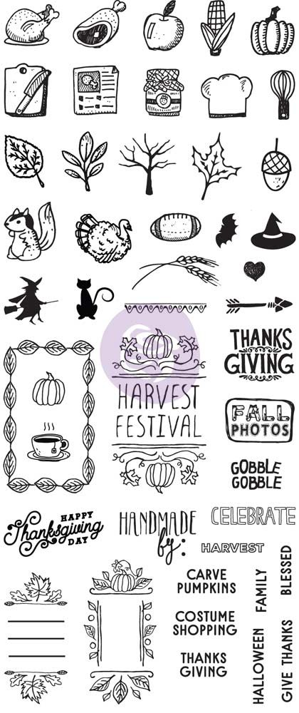 Prima Marketing My Prima Planner Clear Stamps - Fall