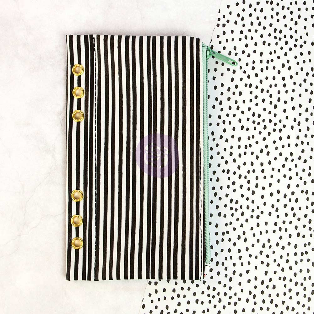 Prima Marketing My Prima Planner Embellishments - Pencil Bag - Cute Stripes